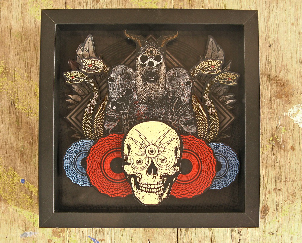 artlove :      The Black Legion Framed Papercut by KENNTWOFOUR on Etsy