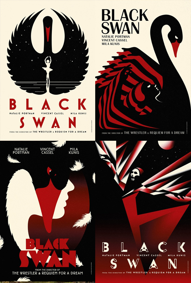 Great posters for Black Swan >  http://www.imdb.com/title/tt0947798/