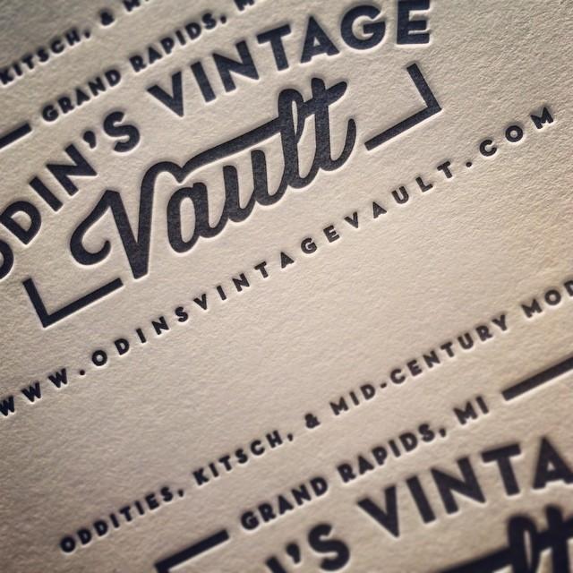 Sneak peek business cards for odins vintage vault bandito design co sneak peek business cards for odins vintage vault reheart Gallery