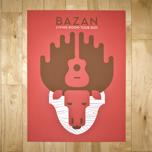 BAZAN 2011 LIVING ROOM TOUR POSTER
