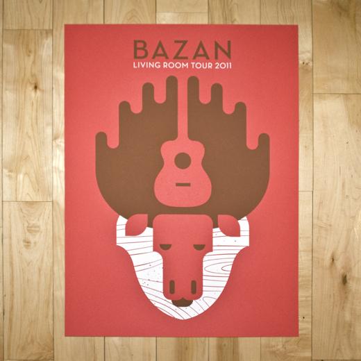 BAZAN 2011 LIVING ROOM TOUR POSTER