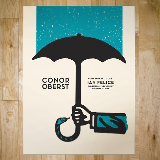 CONOR OBERST GIG POSTER