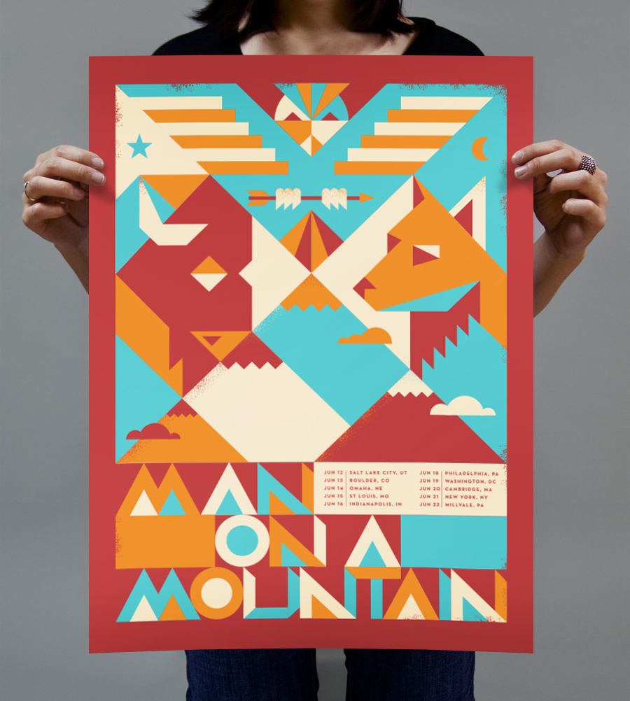 MAN ON A MOUNTAIN TOUR POSTER