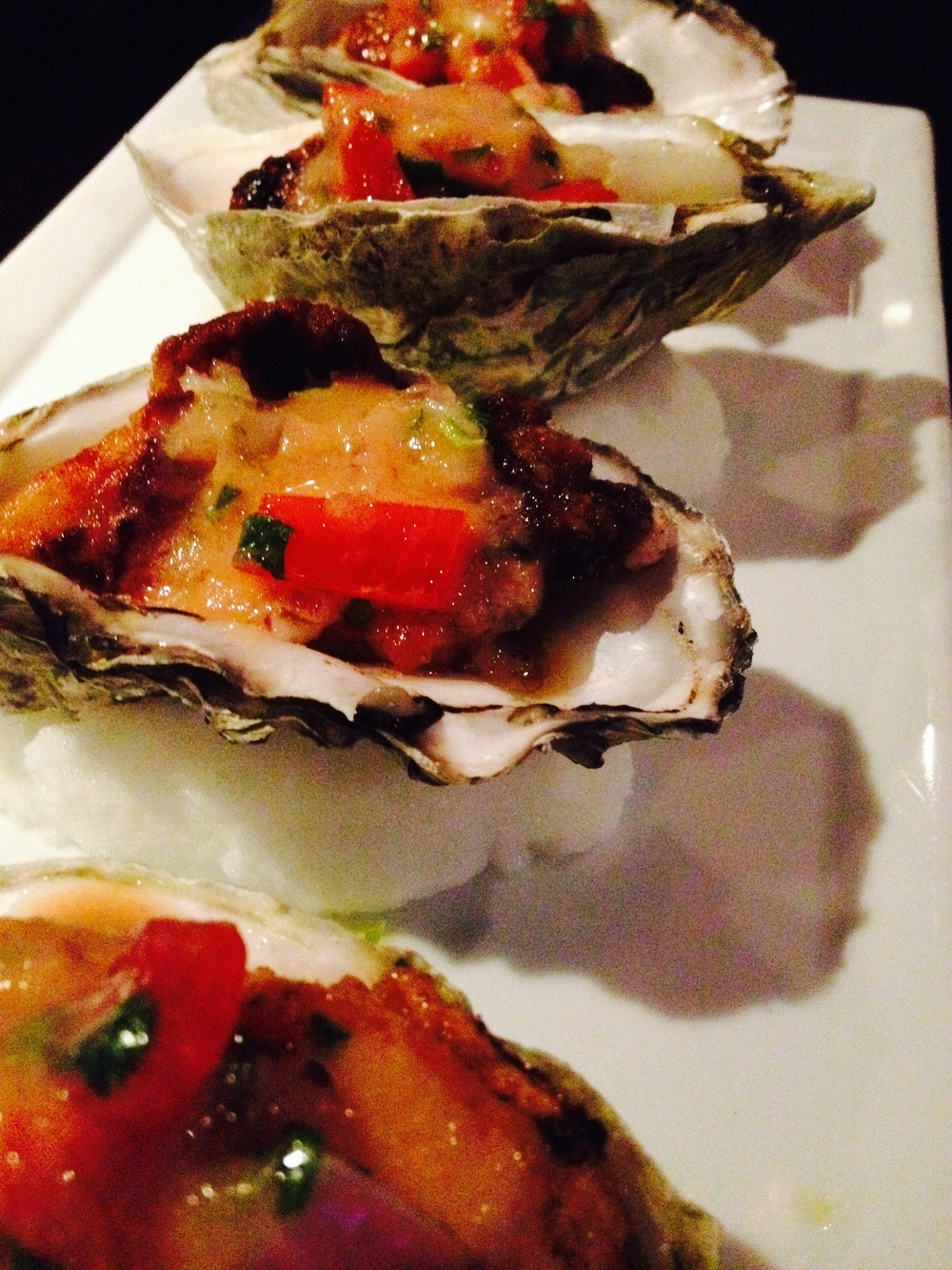 OYSTERS A LA CHALACA  Pan fried, salsa criolla