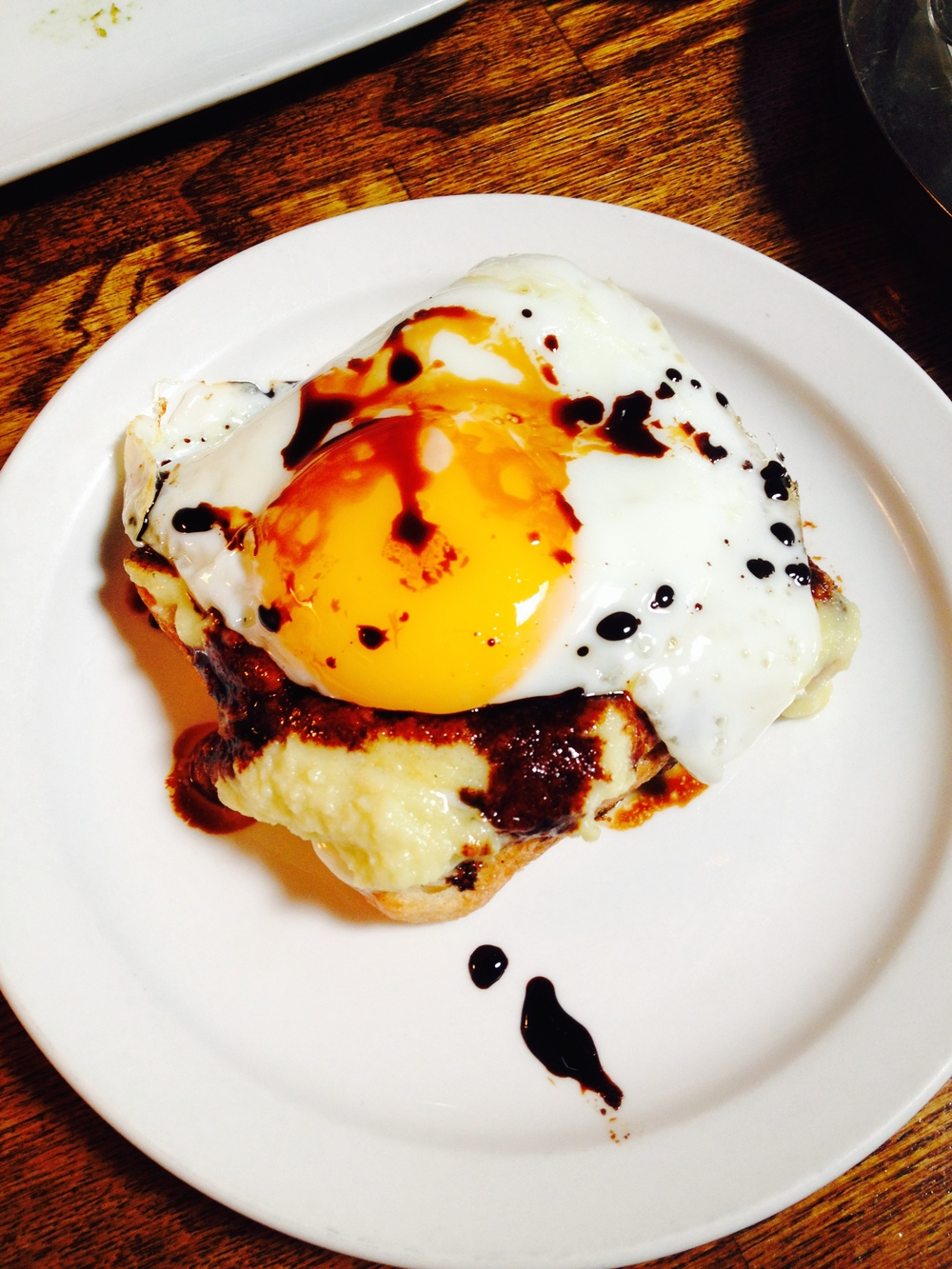 Kaya Toast - coconut jam served open face on toasted bread with soft fried egg and dark soy