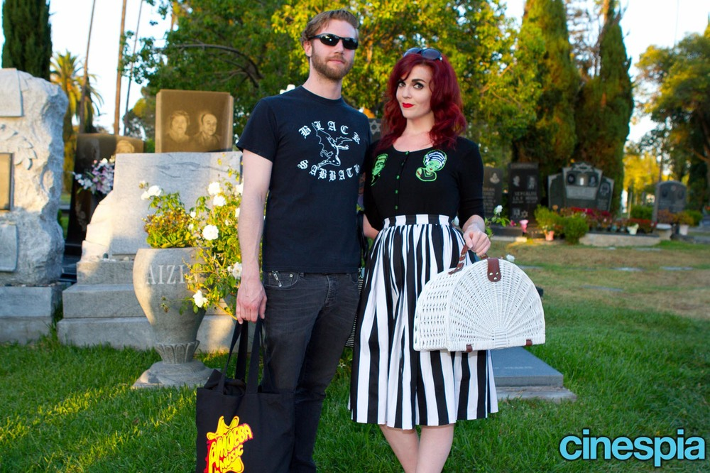 Courtesy of Cinespia - they snapped our pic and posted it to their  website !