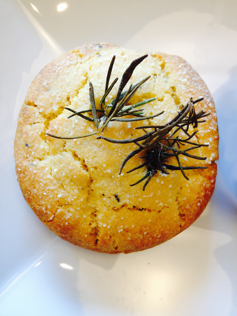 Rosemary corn scone.