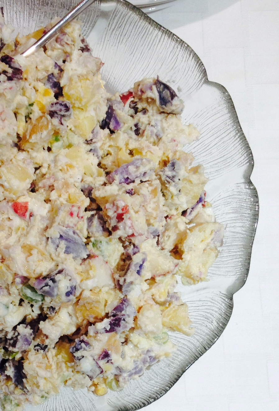Ti-Colored Potato Salad