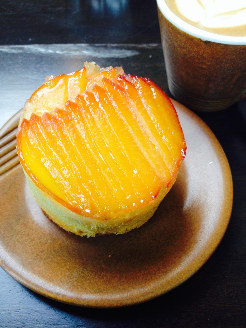 Upside Down Yellow Peach Cake