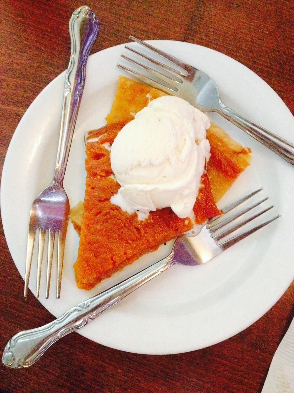 Sweet Potato Pie  à la mode.