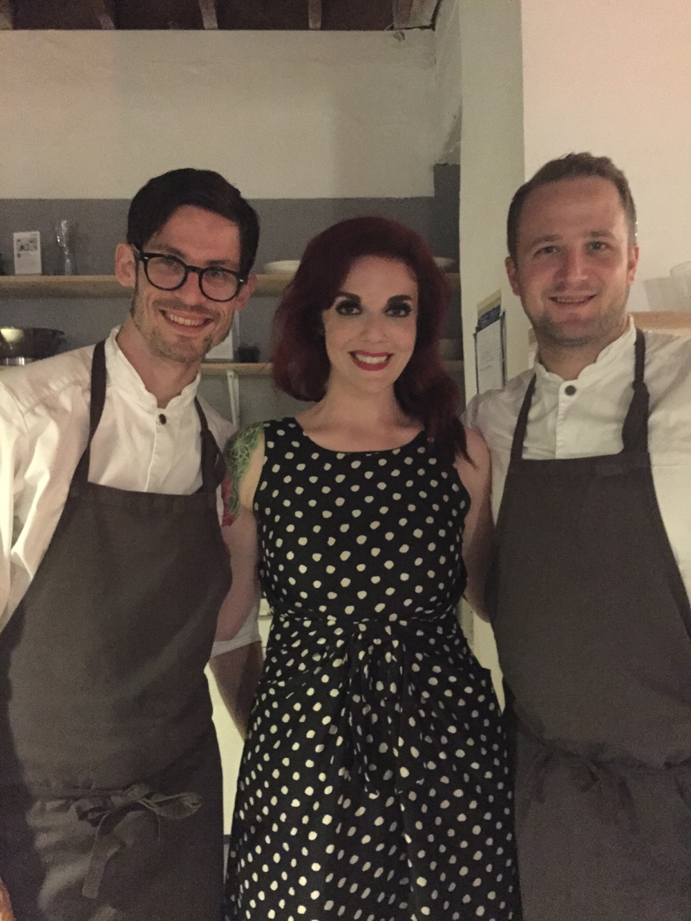 With the wonderful   Chef Anton Bjuhr (left) and   Chef Jacob Holmström (right)!