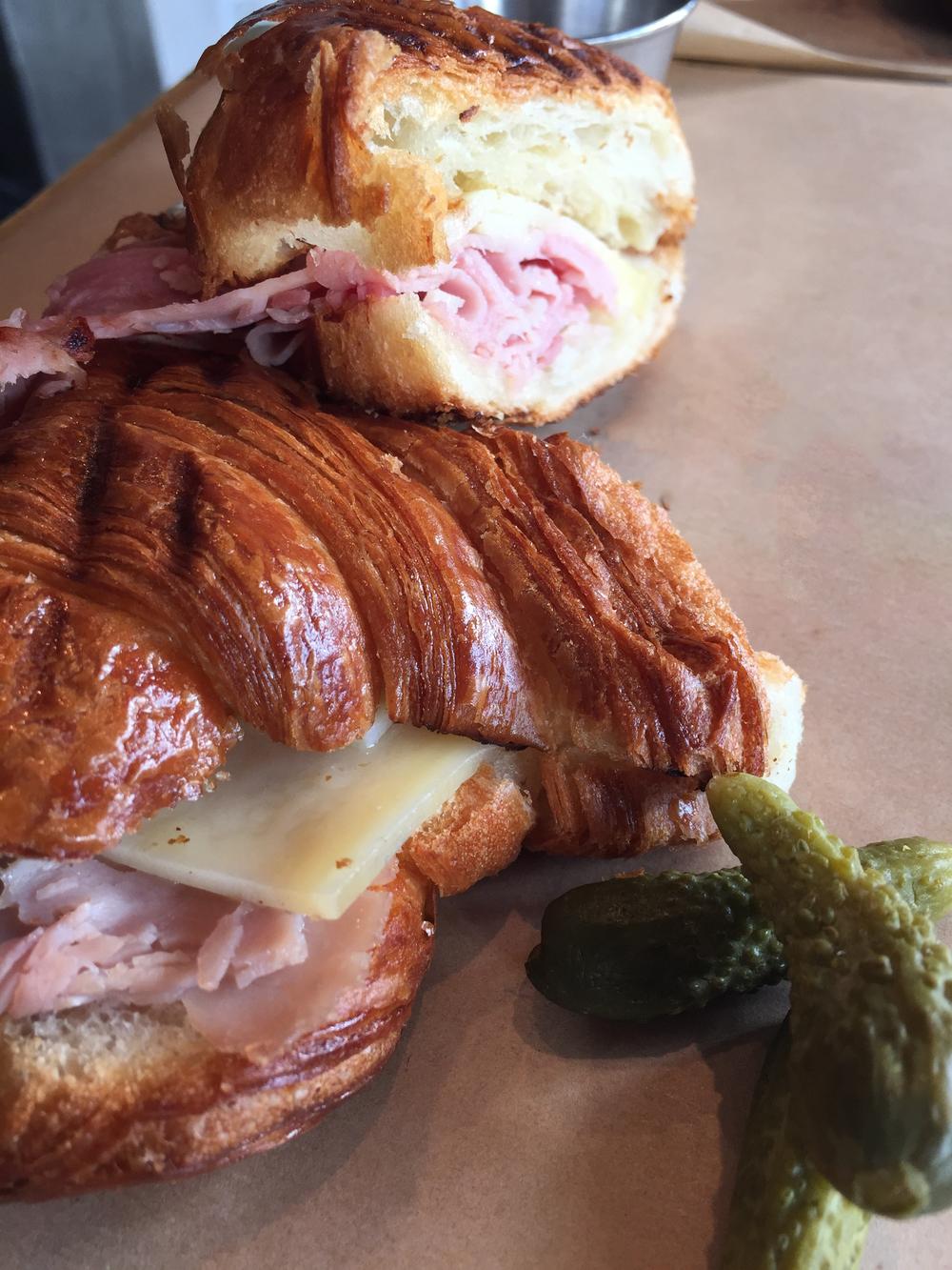 Paris Ham and Gruyere Croissant.