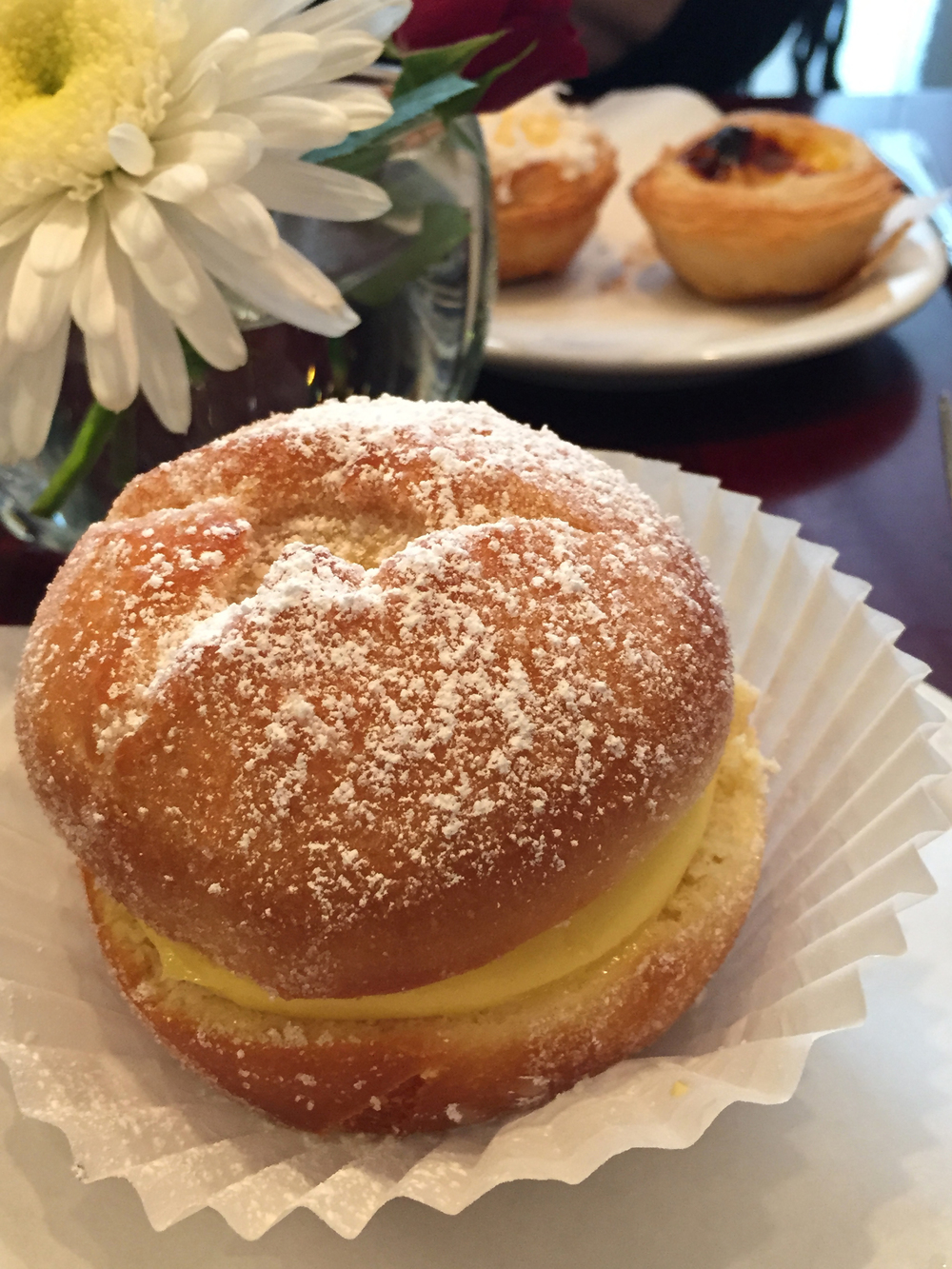 Bola de Berlin - a donut filled with pasty cream.