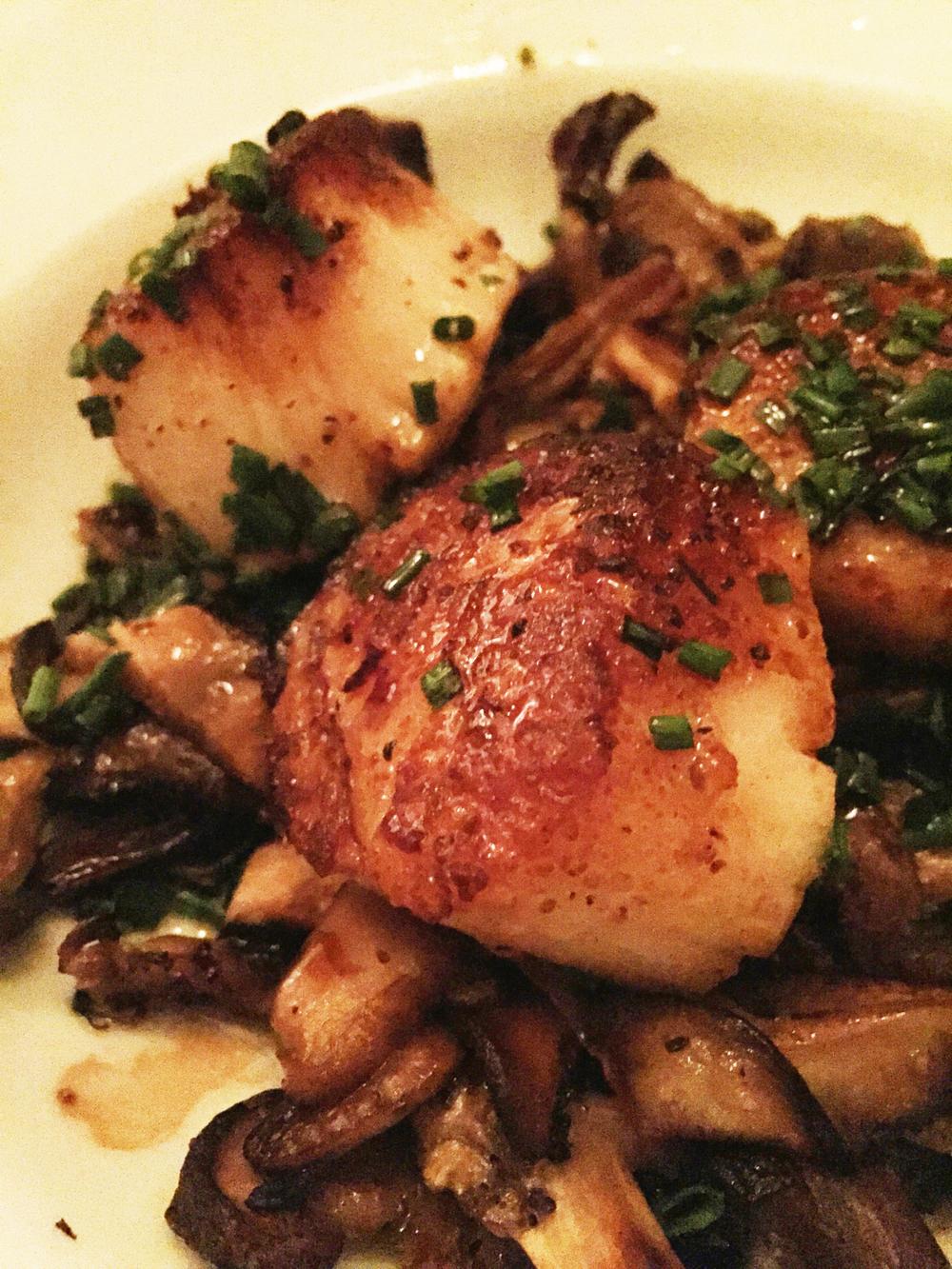 Sauteed Scallops, Mushrooms, Aged Balsamic Vinegar