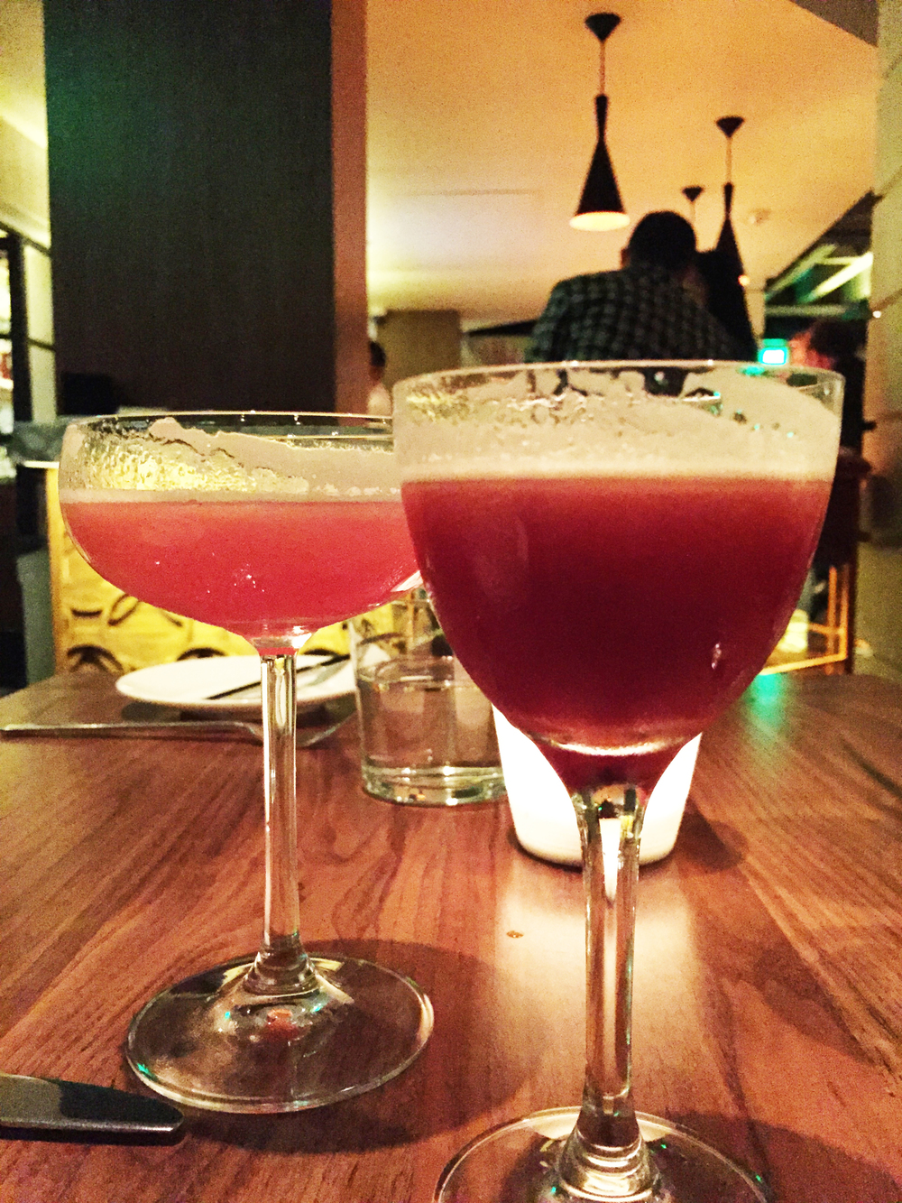 (left) The Good Bishopbarolo chinato, tequila, amaro, lemon, cinnamon, all spice tincture. cooling cups and danty drinks, william terington, 1869 (right) French Bulldogcherry brandy, gin, lime, absinthe. recipes for mixed drinks, hugo ensslin, 1916.