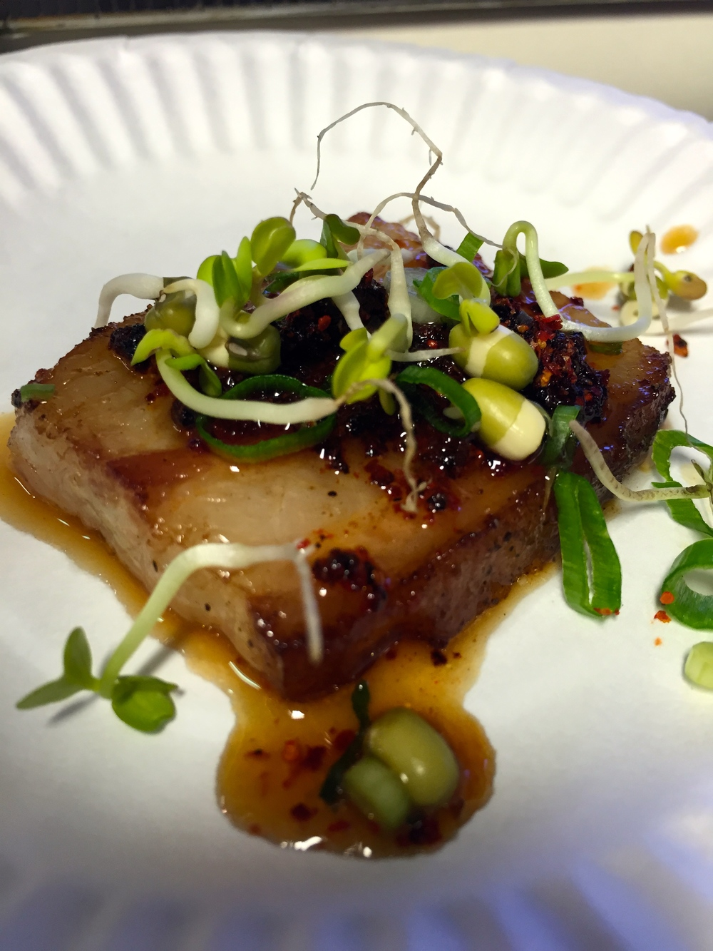 animal   - char siu pork with ramen vinaigrette