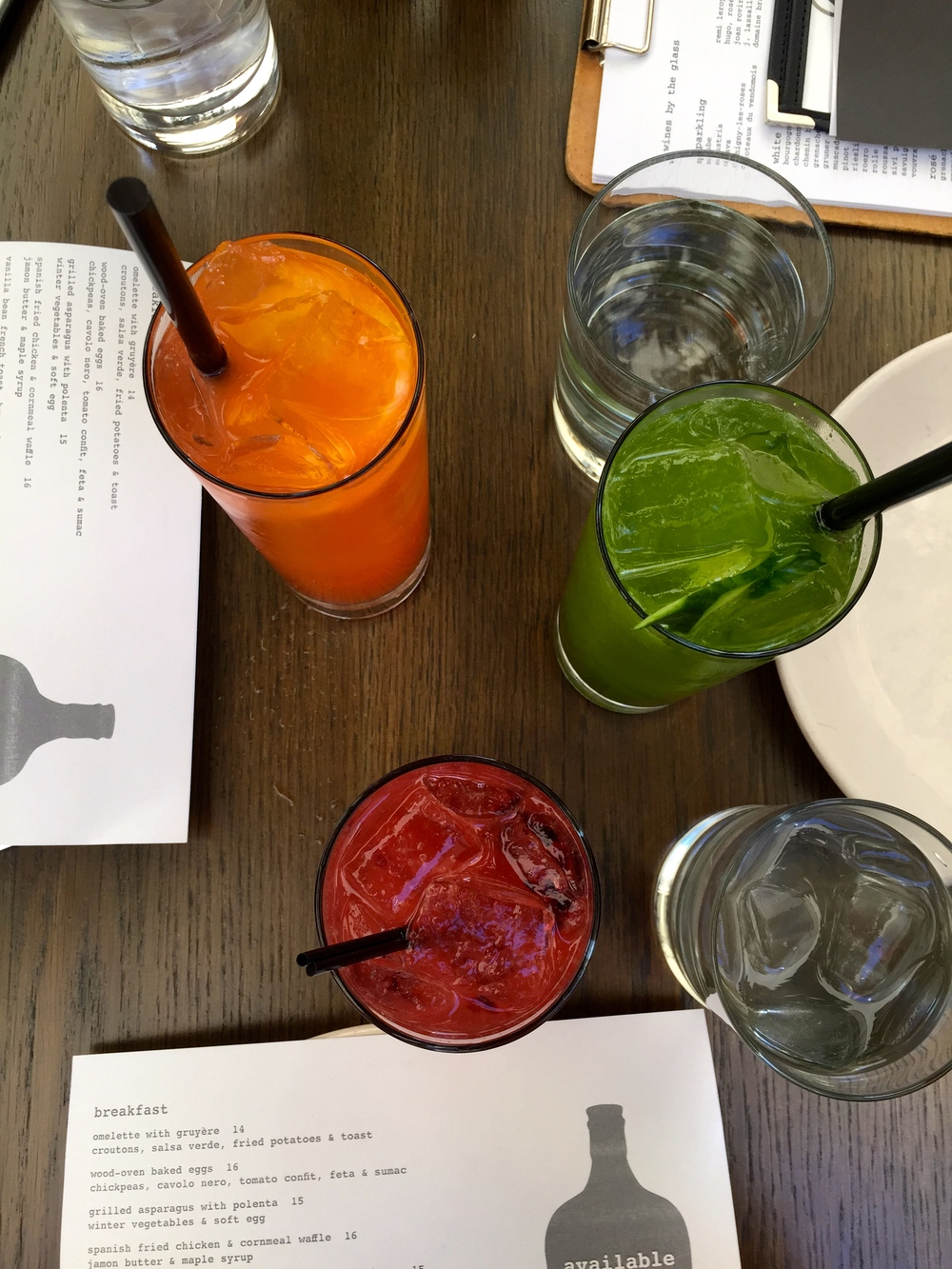 A slew of delicious cocktails.