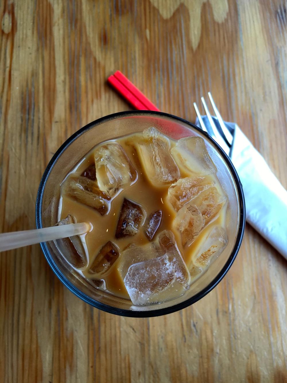 Vietnamese-style iced coffee.