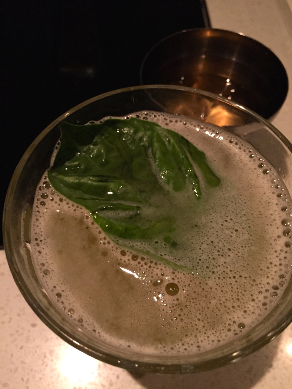 Basil cocktail.