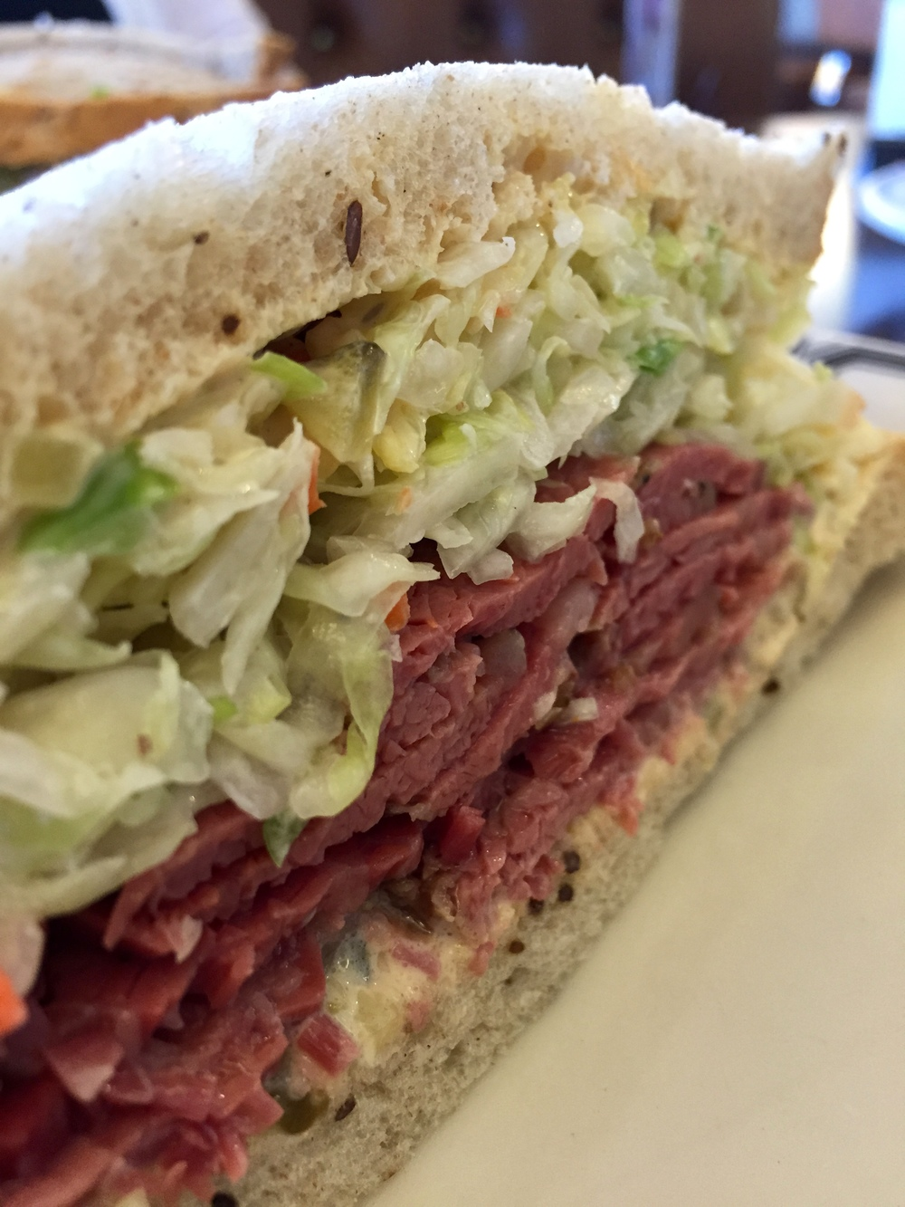 No. 19 Pastrami, Swiss Cheese, and Cole Slaw with Russian Dressing.