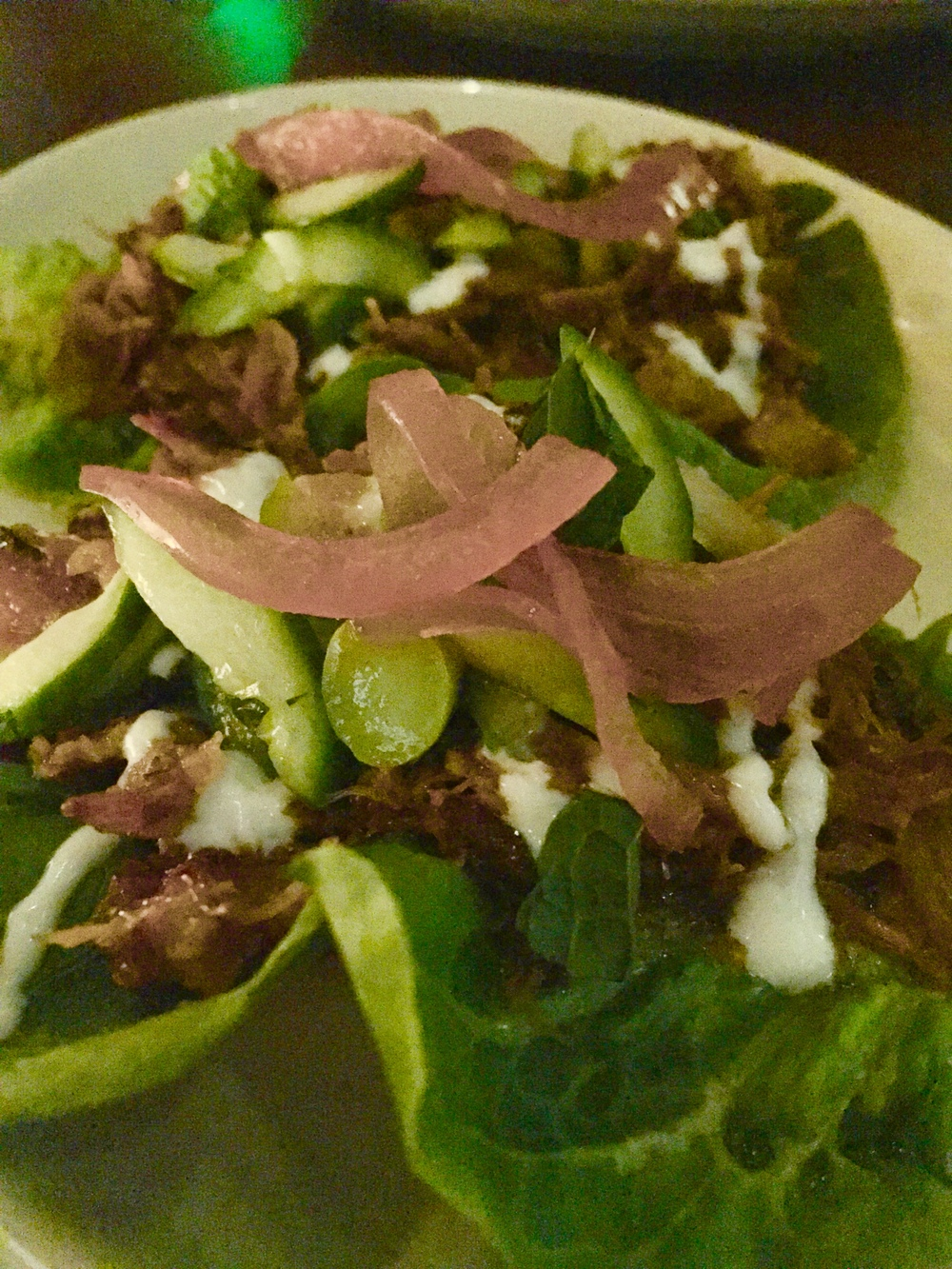 Lamb lettuce wrap nightly special.