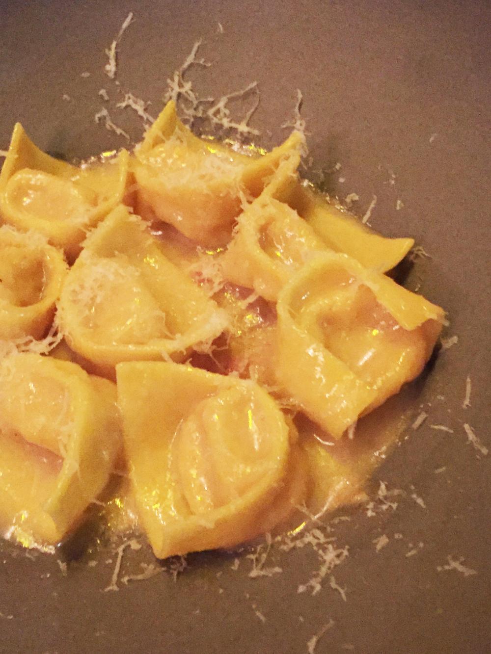 """Tortellini in Brodo """"al contrario."""""""