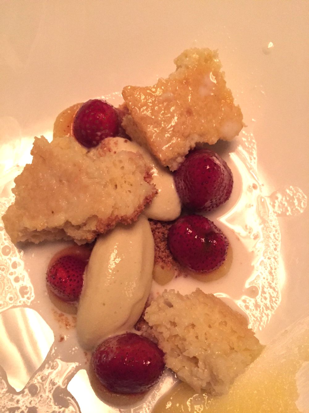 strawberry, almond & chamomile shortcake
