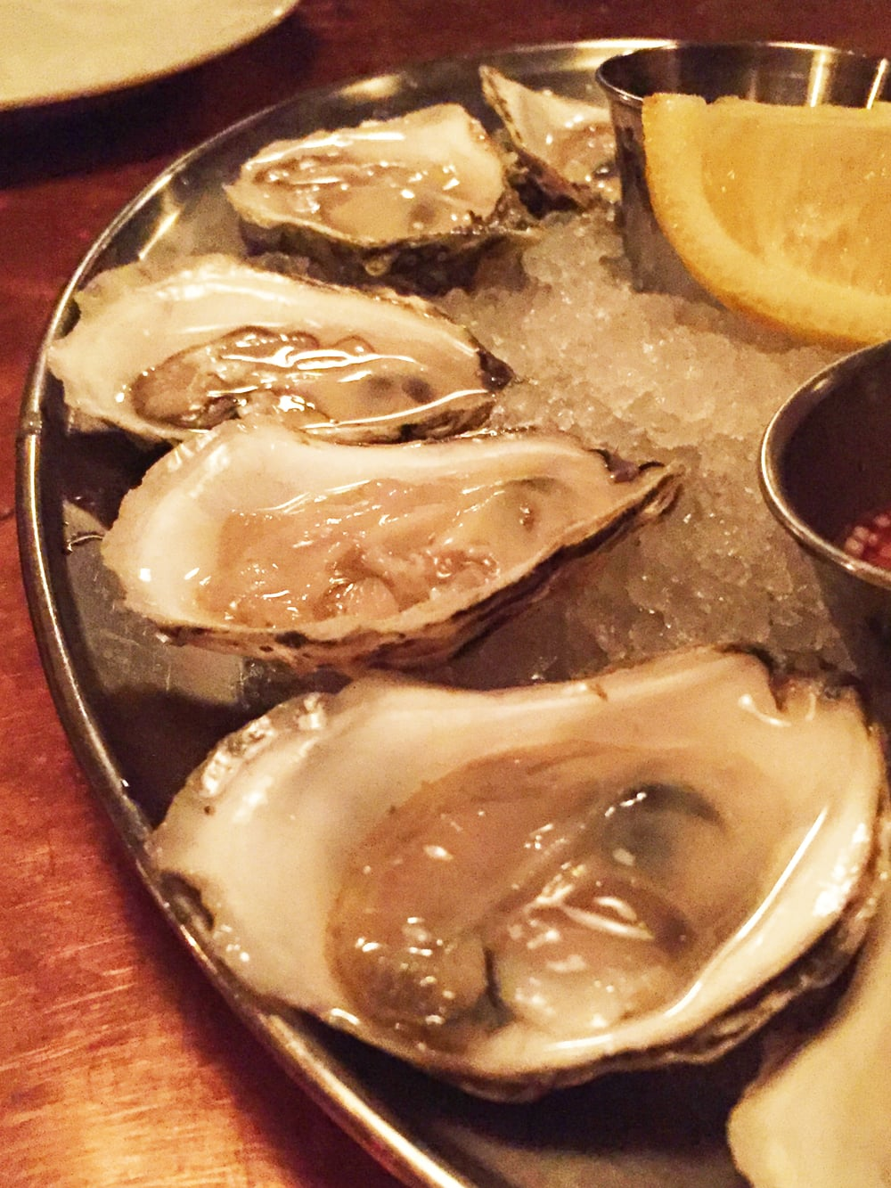 ½ Dozen Oysters on the Half Shell.