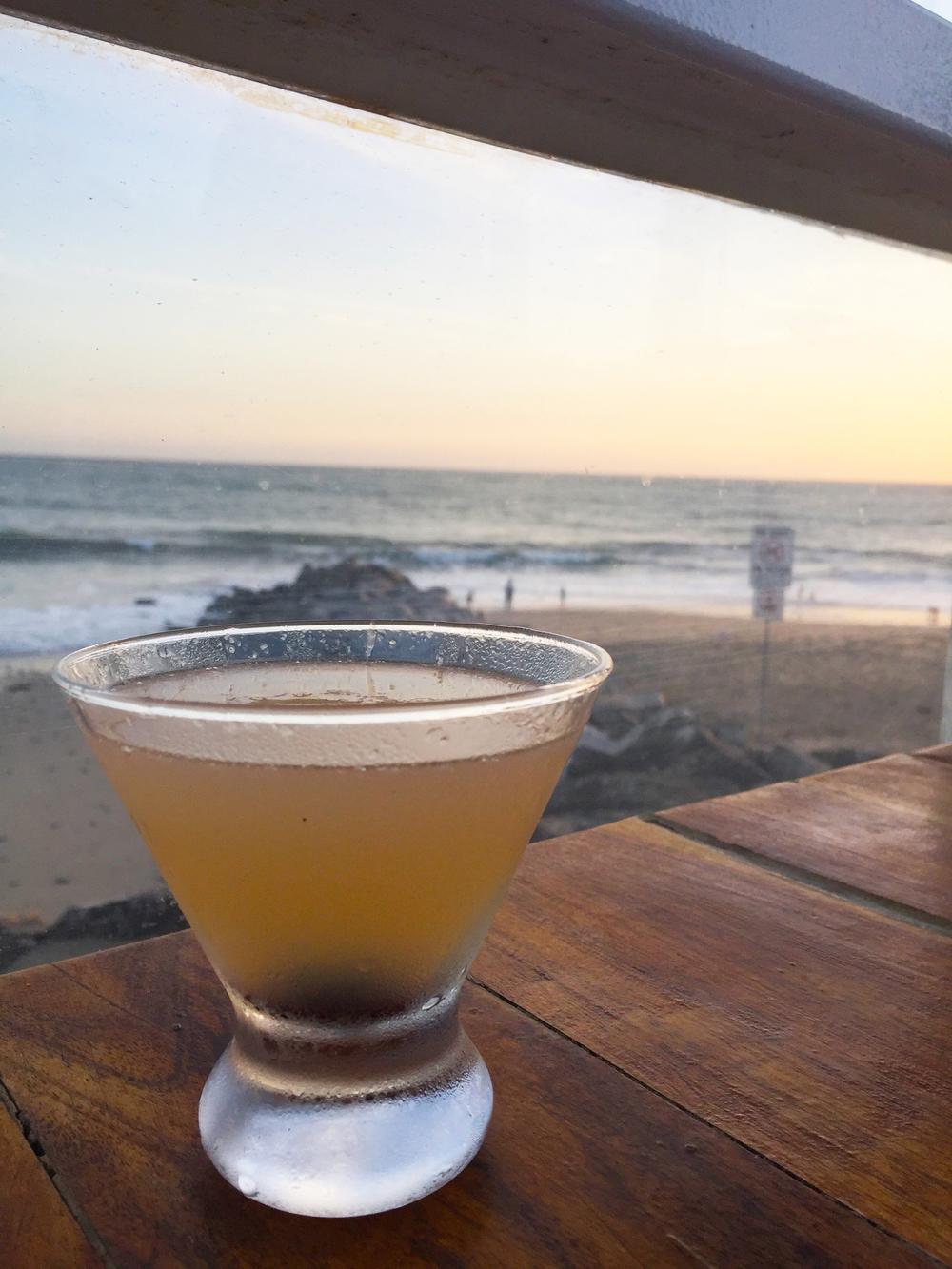 Hemingway Daiquiri with Cruzan rum, lime juice, grapefruit juice, and maraschino luxardo.