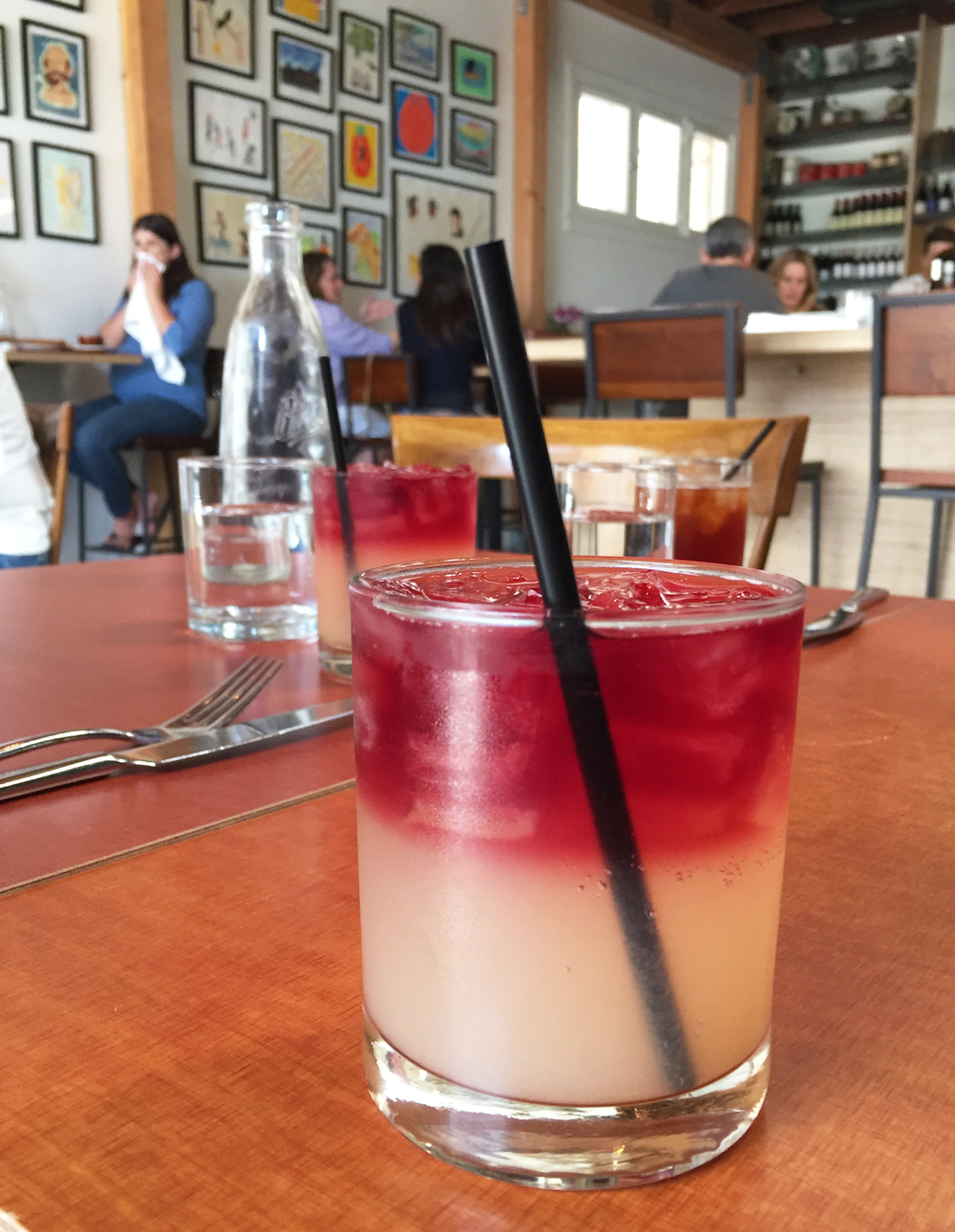 GRAPEFRUIT SPARKLER with Prosecco and a red wine float