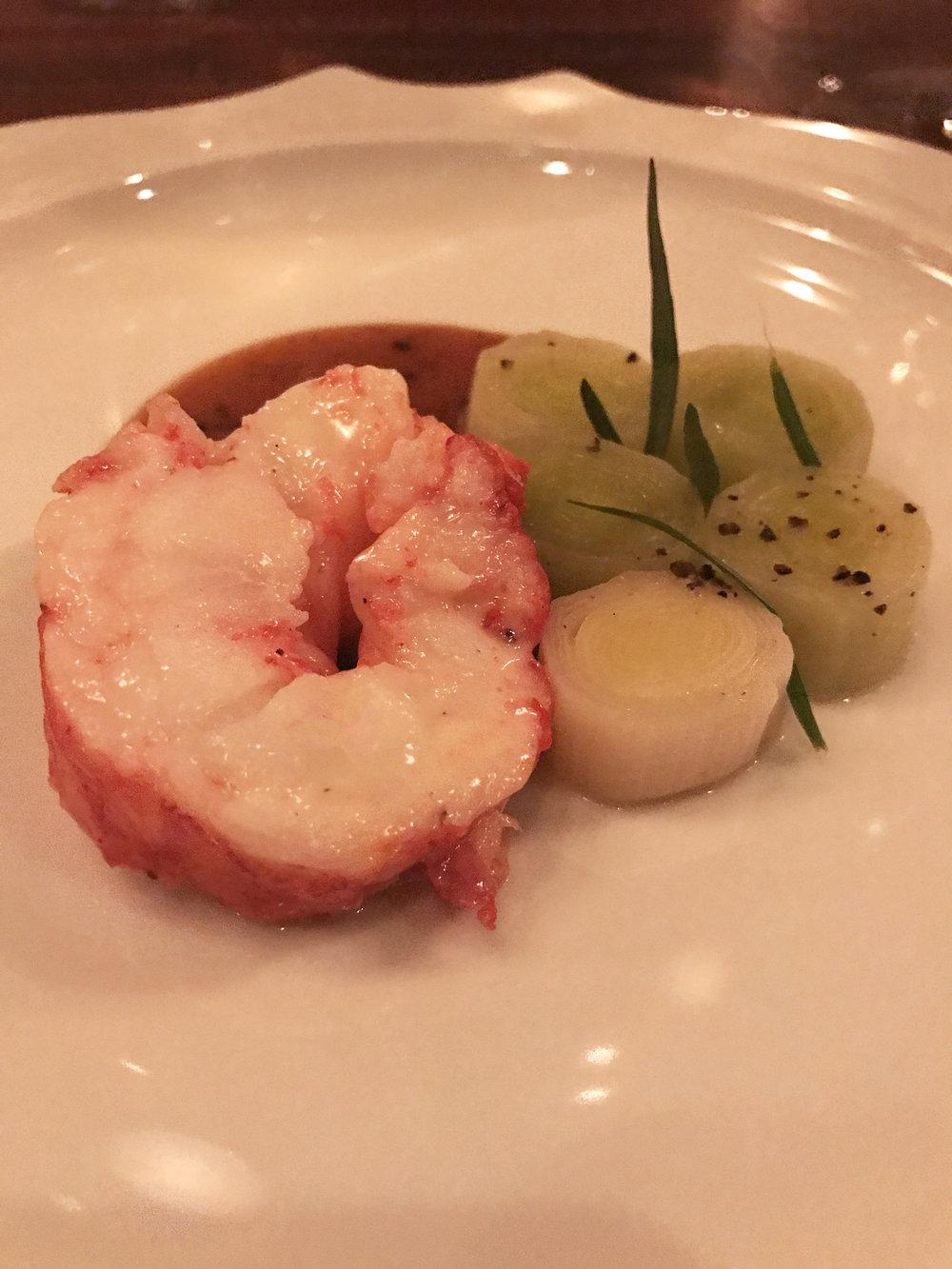 Lobster - leeks, sauce Americaine, tarragon