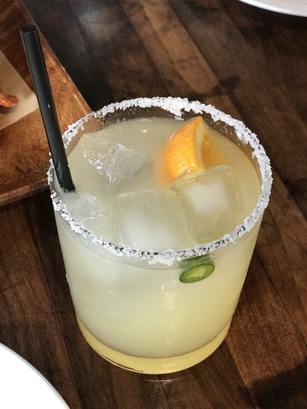 Avila's Heir - margarita with correlejo reposado, serrano, orange, and yuzu