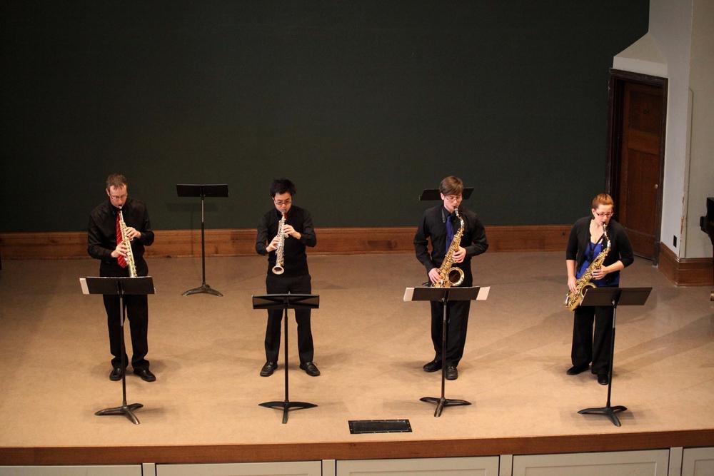 Quatuor de saxophones Proteus,création canadienne de  Shadows of Bamian de Robert Lemay (2013), Saskatoon, Canada