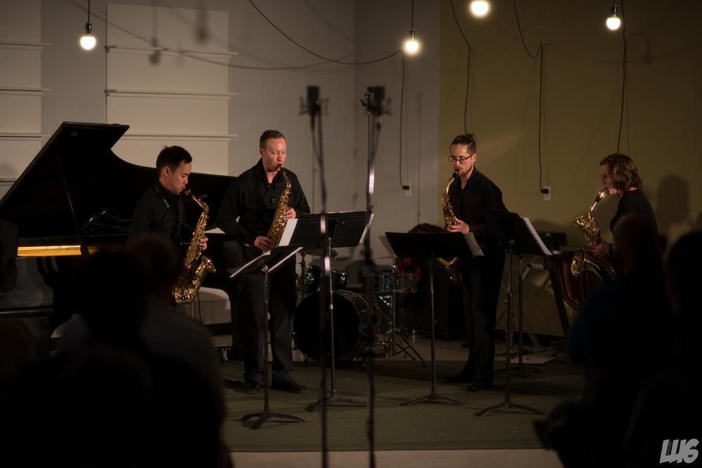 Le Quatuor de saxophones Proteus au festival de musique Strata (2015) à Saskatoon, Canada