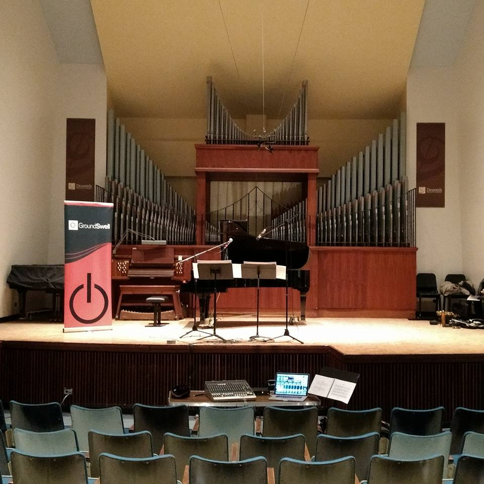 Revolution Ensemble performs for GroundSwell in Winnipeg at the University of Manitoba Desautels Faculty of Music.