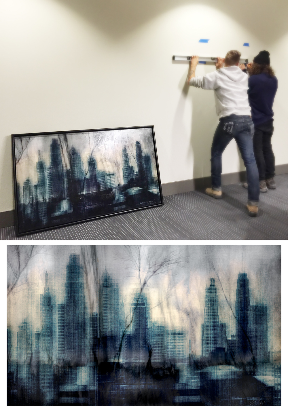 Conference room, Abstract Skyline