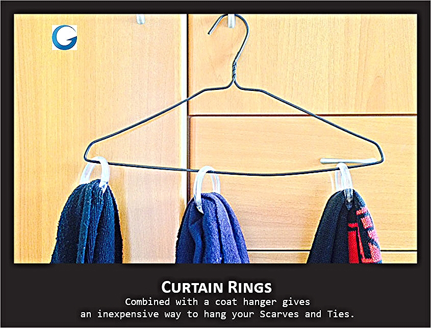 Curtain Ring Storage tips