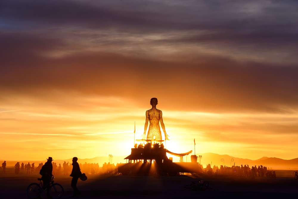 Sunrises are magical at Burning Man.  Photo by Chris Miele