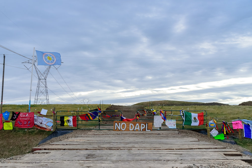A quiet start on the front lines. Standing Rock Reservation Area, ND.