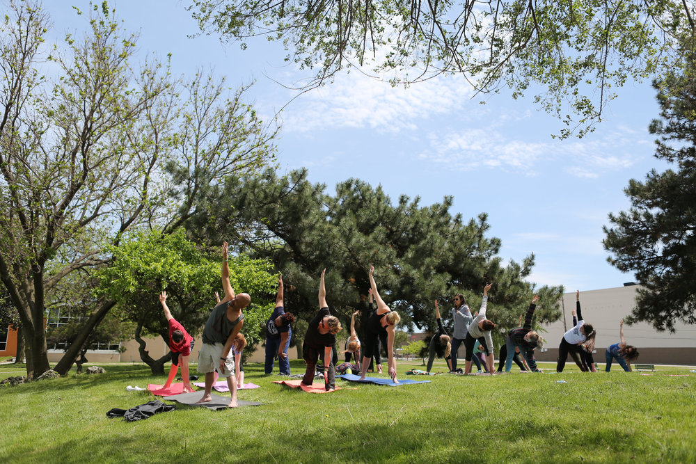 Free Yoga classes taught by Citizen Yoga in the park for Spring Into Corktown / Spring 2017 / Photo by  Sarah Barthlow