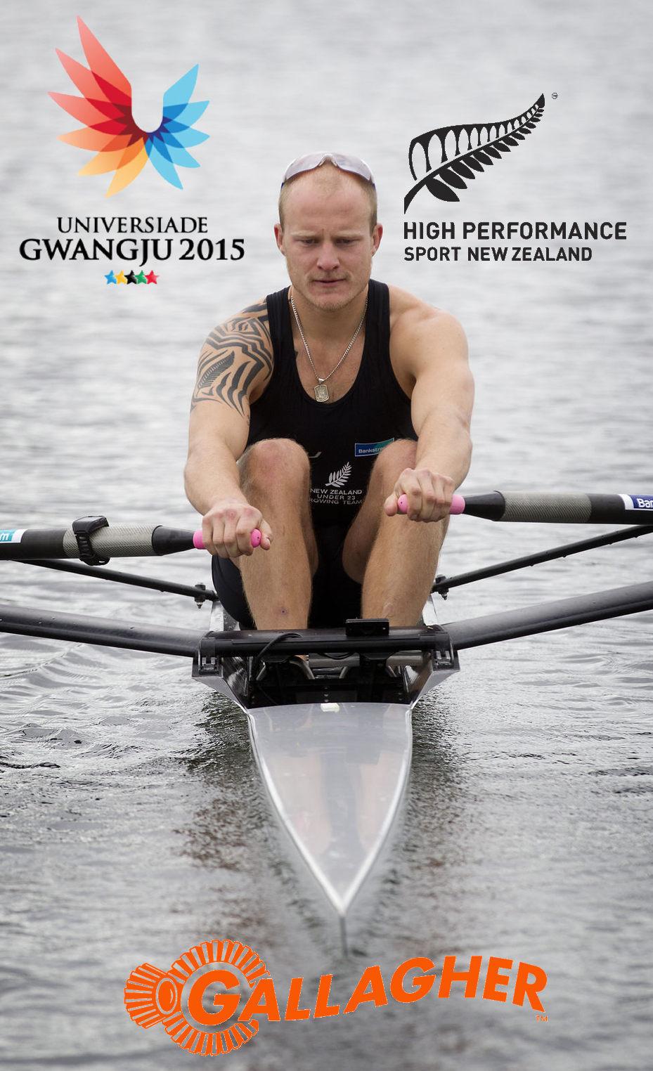 2015 Universiade NZ Mens Lightweight Single Sculler