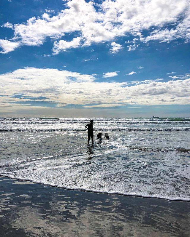 Beach trips. One of the kids favourite activities. #beach #sun #sand #surf #waves #horizon #BlueSky #Paradise