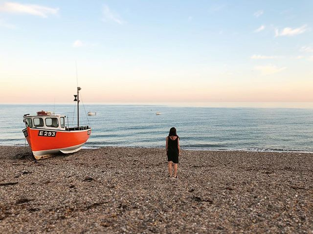 Branscombe Beach in Devon. I came here lots as a child and have the most amazing memories, and I love that as my adult self I still love coming here and making new ones. . . . . #gratitude #love #beach #branscombe #nationaltrust #devon #holiday #seaside #ocean #boat #pebbles #england #coast #rootstoflourish