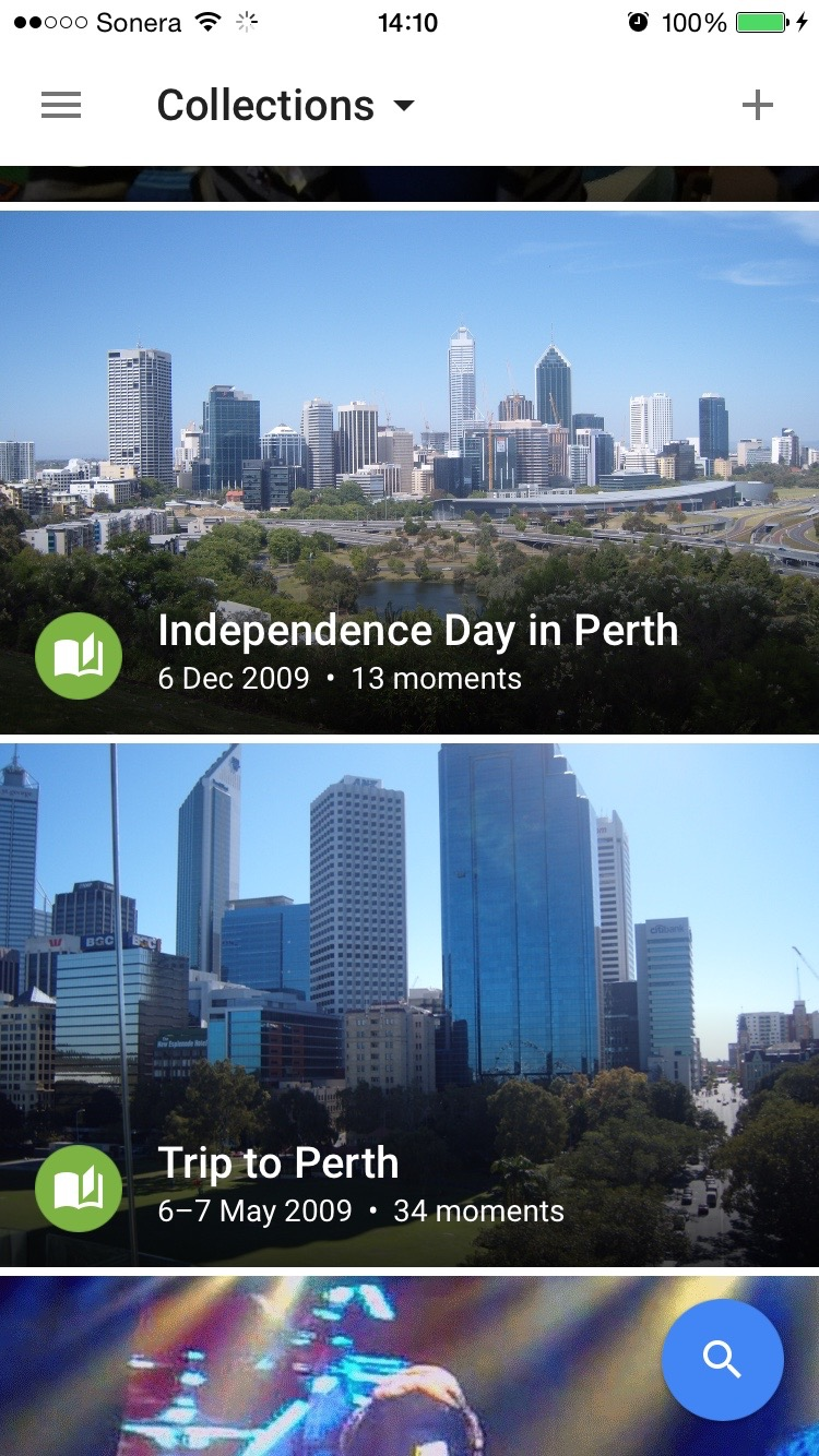 Collections based upon being in Perth, Australia - see, it knows I've been there.