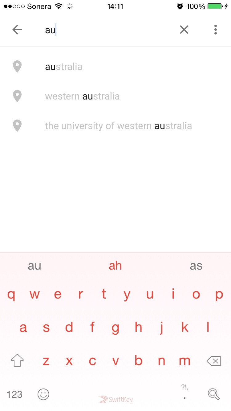 Australia - it even knows general locations in WA and presents em with them.