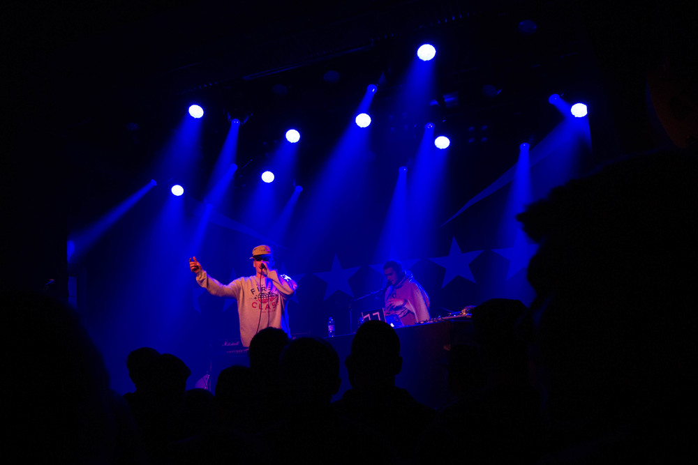 Gettomasa warming up the crowd at Tavastia