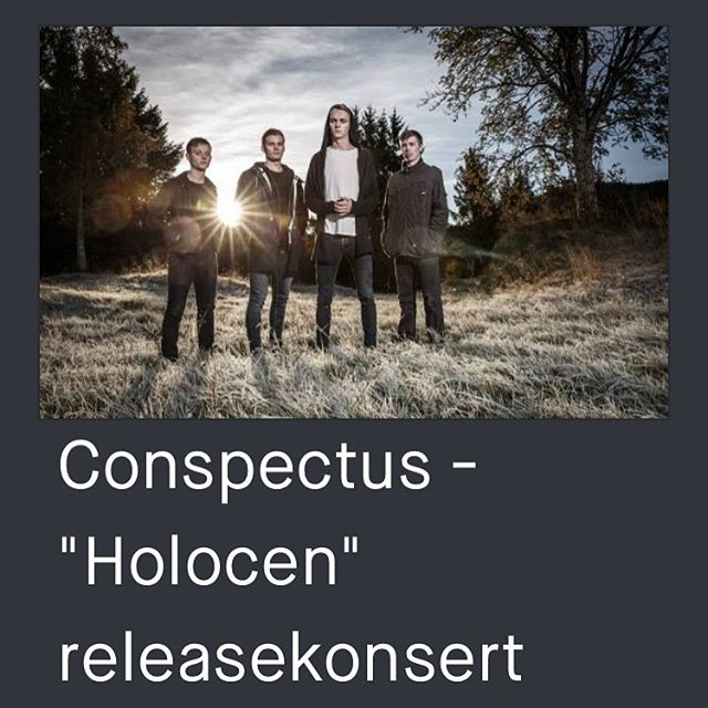"""Our release show is only one week away! Join us as we celebrate """"Holocen"""" at Kølbua in Langevågen on November 15th. Tickets available at Tikkio (link in profile)."""