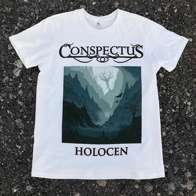 We have added a new item to our webshop! The Holocen t-shirt features the album artwork by Josh Middleton. Get it at www.conspectusofficial.com (link in profile)