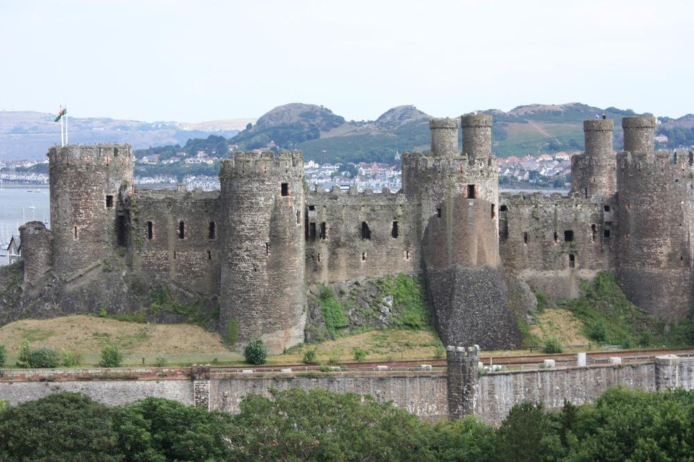 Deganwy, behind Conwy Castle