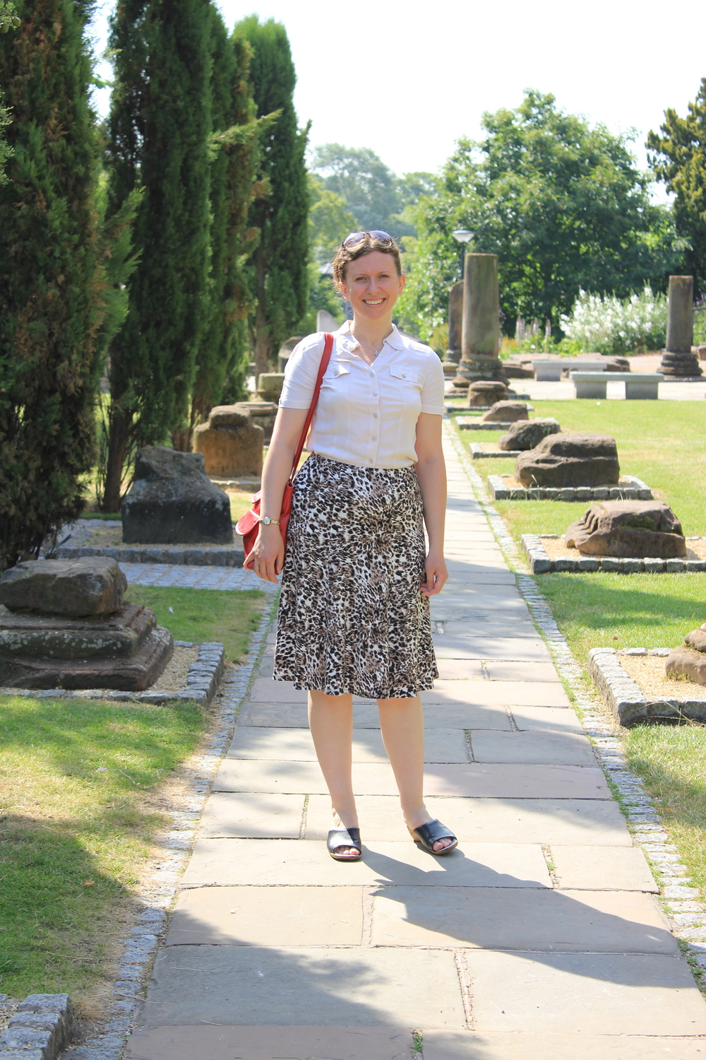 Abi in the Roman Gardens, Chester